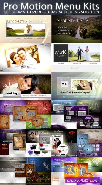 Precomposed: Pro Motion Menu Kit Bundle