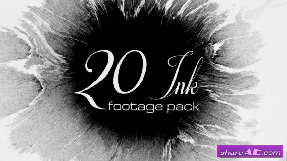 Videohive 20 Ink footage pack - Stock Footage