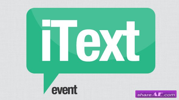 Videohive iText Event - Apple Motion Templates
