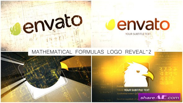 Videohive Mathematical Formulas Logo Reveal