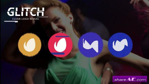 Videohive Clean Glitch Logo