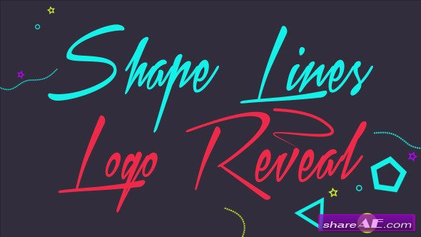 Videohive Shape Lines Logo Reveal