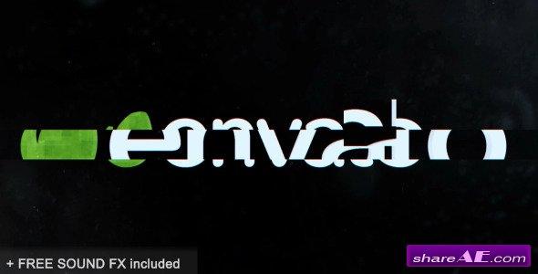 Videohive Simple Glitch Logo Intro