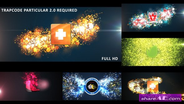 Videohive Glowing Particles Logo Reveal Pack : 01
