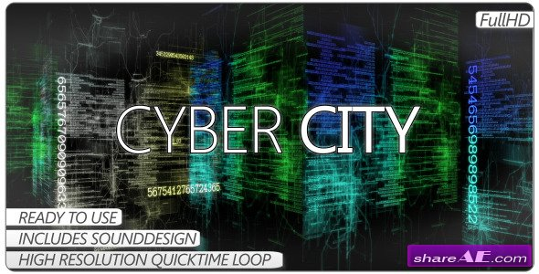 Videohive Cyber City -  Motion Graphics