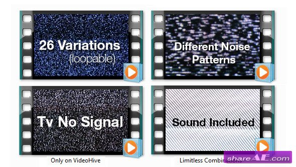 Videohive TV Noise - No Signal Bundle -  Motion Graphics