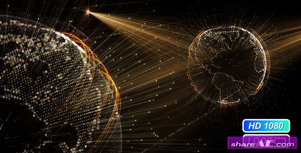 Videohive Cyber Earth Globe Hologram -  Motion Graphics