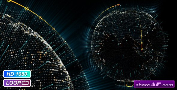 Videohive Cyber Earth Globe - Motion Graphics