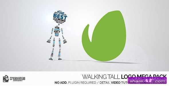 Videohive Walking Tall Logo Mega Pack - After Effects Templates