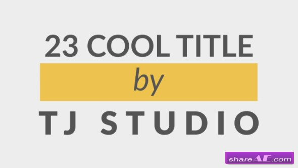 Videohive 23 cool Title Animations