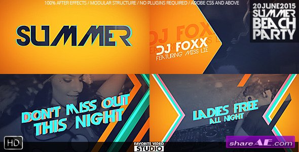 Videohive Summer Beach Party