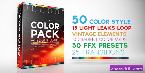 Videohive Color Pack with Light Leaks