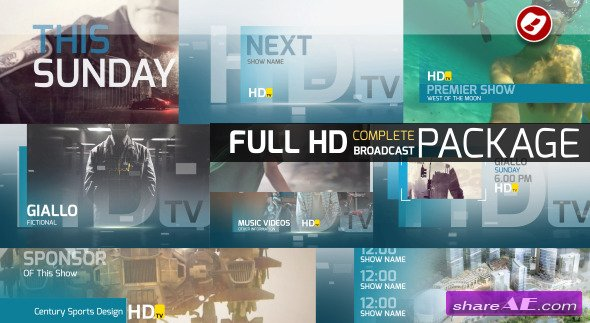 Videohive HDtv Complete Broadcast Package
