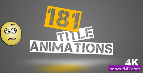 181 Title Animations - After Effects Project (Videohive)