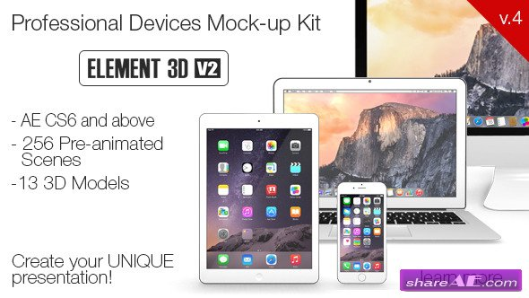 Devices Mock-up Kit - After Effects Project (Videohive)