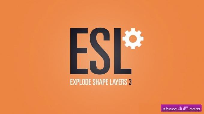 Explode Shape Layers 3.3.1 (Aescript)