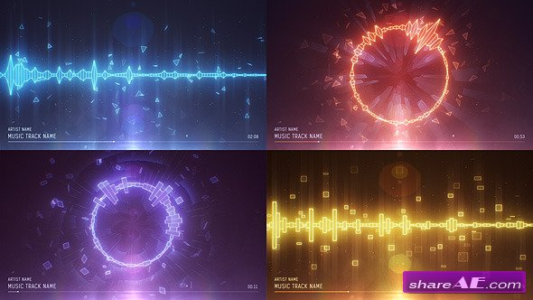Videohive Clean Audio Spectrum Music Visualizer » free after effects