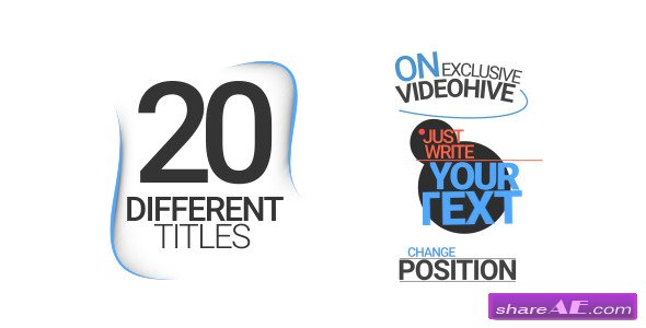Videohive 20 Different Titles
