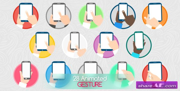 Videohive Animated Gesture Icons