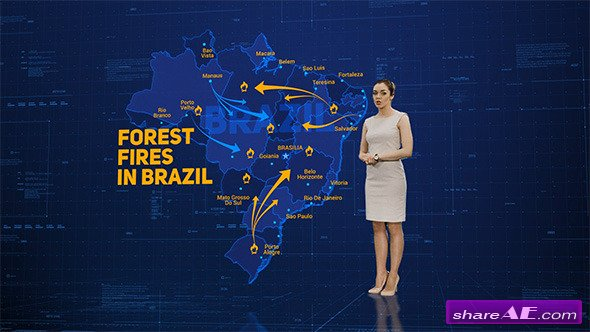 Videohive Broadcast Maps Package