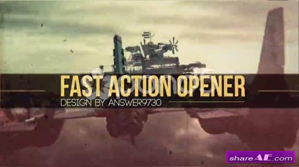 Fast Action Opener - After Effects Templates (Pond5)