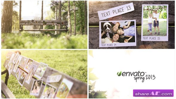 Videohive Bench Photo Gallery - After Effects Templates