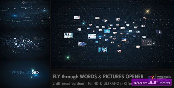 Videohive Fly through Words & Images Opener - After Effects Templates