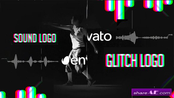 Videohive Sound Glitch - Logo Reveal - After Effects Templates