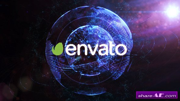 Videohive Digital Planet Earth Logo - After Effects Templates