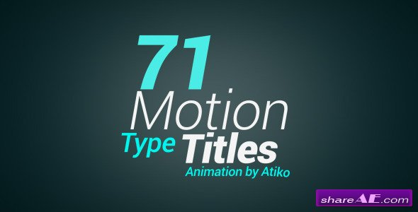 Videohive Motion Type Title Animations - After Effects Templates