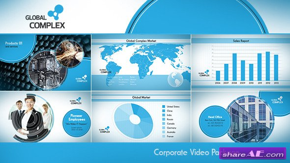videohive ink corporate - after effects templates » free after, Powerpoint templates