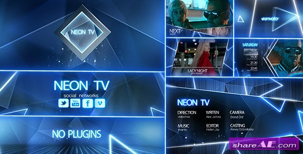 videohive neon tv broadcast package