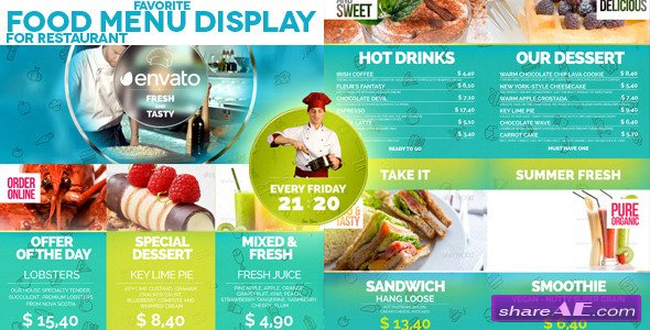 Videohive Favorite Restaurant Display