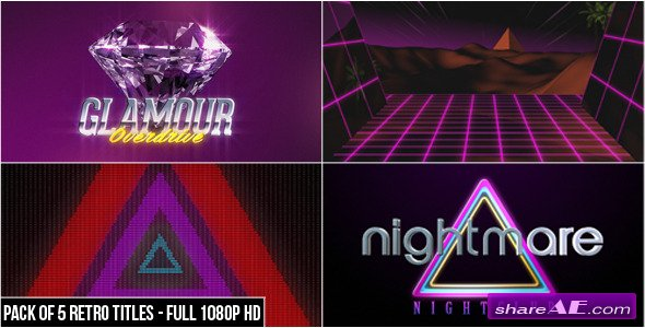 Videohive 80's Retro Titles (Pack of 5)