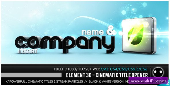 Videohive Element 3D - Cinematic Titles Opener - After Effects Templates