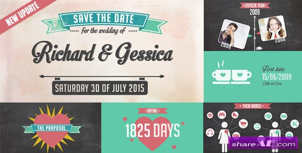 Videohive The Story of Us - Wedding Invitation - After Effects Templates