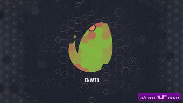 videohive hexagon geometric logo - after effects templates » free, Presentation templates