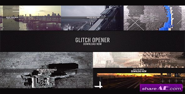 Videohive Glitch Opener - After Effects Templates