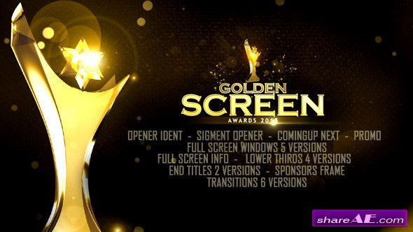 Videohive Golden Screen Awards - After Effects Templates