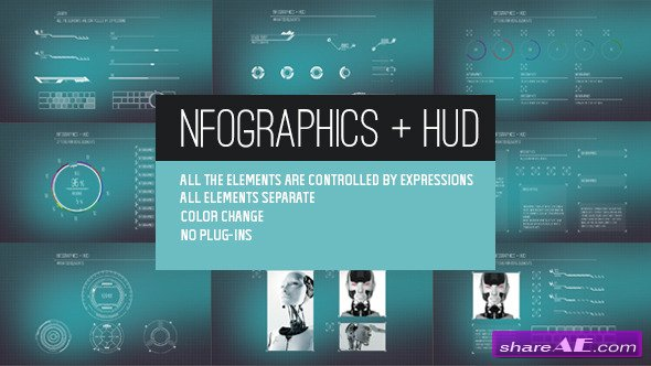 Videohive Infographics + HUD - AE Project