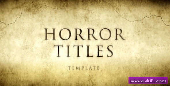 Videohive Horror Movie Titles