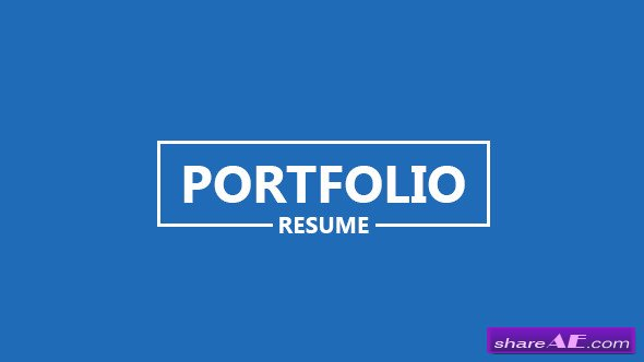 Portfolio - Resume - After Effects Templates (Videohive)