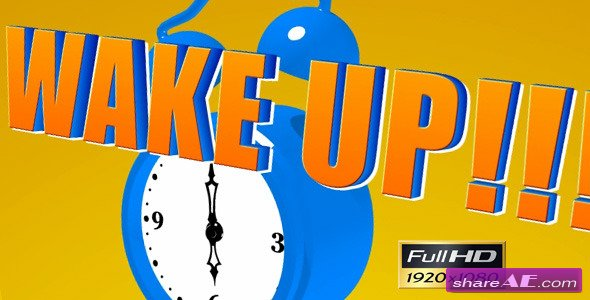 Cartoon Alarm Clock - After Effects Templates (Videohive)
