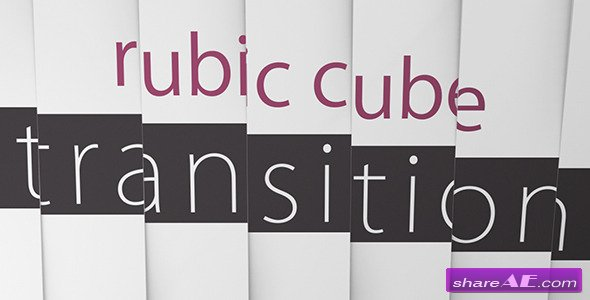 Rubic Cube Transition - After Effects Templates (Videohive)