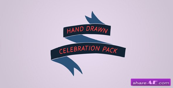 Hand Drawn Celebration Pack - After Effects Templates (Videohive)
