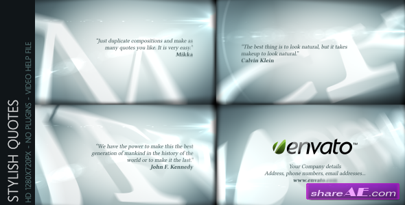 Stylish Quotes - After Effects Templates (Videohive)
