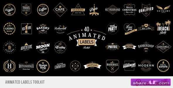 Animated Labels Toolkit - Videohive