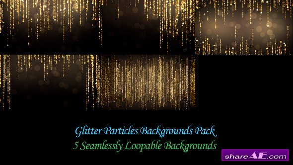 Glitter Particles Backgrounds Pack - Motion Graphics ...