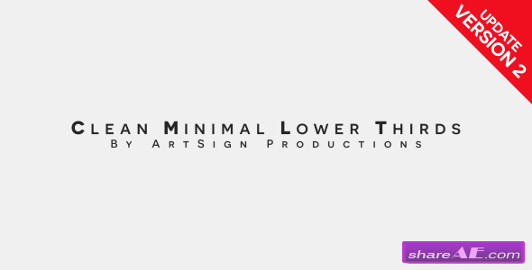 Videohive Clean Minimal Lower Thirds - After Effects Templates