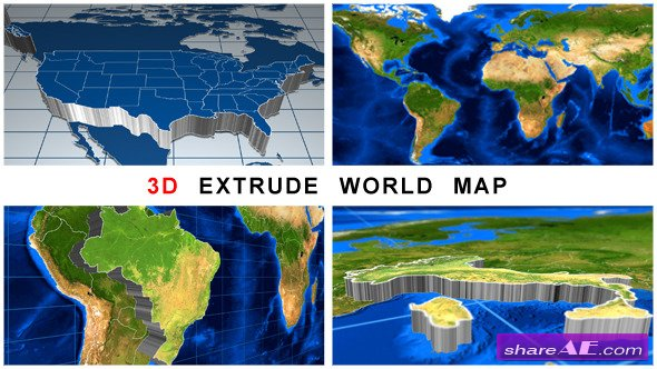 3D Extrude World Map - Videohive